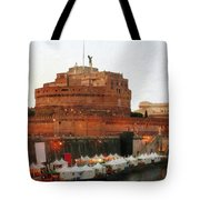 Tents Along The Tiber Tote Bag