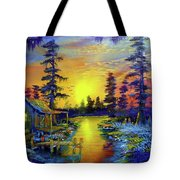 Tequila Sunrise In The Swamp Tote Bag