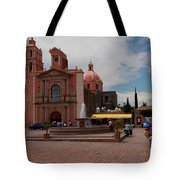 Tequisqueapan Main Catherdral, Mexico Tote Bag