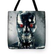 Terminator Oil Pastel Sketch Tote Bag