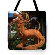Dragon Statue Tote Bag