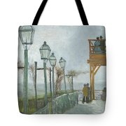 Terrace And Observation Deck At The Moulin De Blute Fin Tote Bag