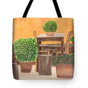 Terrace In Tuscany Tote Bag