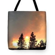 Terrace Mountain Fire 2  Tote Bag