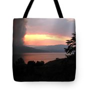Terrace Mountain Fire 4  Tote Bag