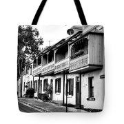 Terraced Houses - Black And White By Kaye Menner Tote Bag