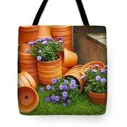 Terracotta Flower Pots Tote Bag