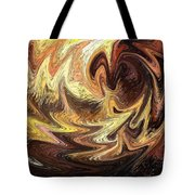 Terrestrial Flames Abstract  Tote Bag