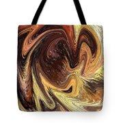 Terrestrial Vortex Abstract Tote Bag