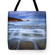 Tesselated Sunset Tote Bag