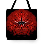 Test Red Abstract Flower 3 Tote Bag
