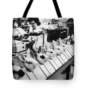 Tests On Animals, 1957 Tote Bag