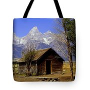 Teton Cabin Tote Bag