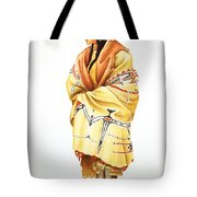 Teton Dacota Indian Woman II Tote Bag