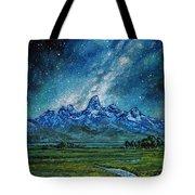 Teton Milky Way Tote Bag by Aaron Spong