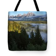 Teton Morning Snake River Overlook Tote Bag