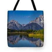 Teton Mountains Reflection Tote Bag