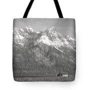 Teton Range Charcoal Sketch Tote Bag