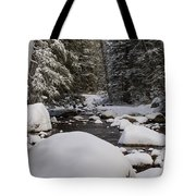 Teton River In Winter Tote Bag