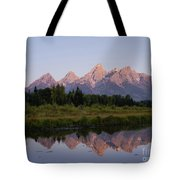 Teton Sunrise Tote Bag