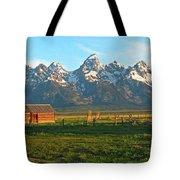 Tetons And Cabin Tote Bag