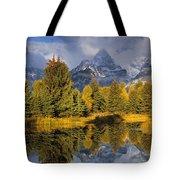 Tetons And Schwabacher Pond Tote Bag