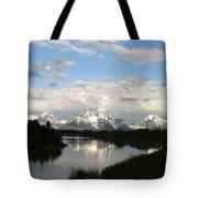 Tetons At Dawn Tote Bag