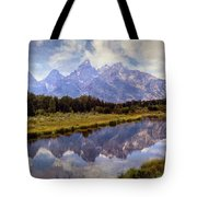 Tetons At The Landing 1 Tote Bag