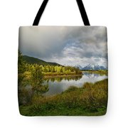 Tetons In The Distance Tote Bag