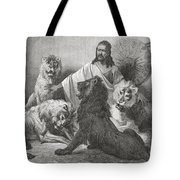 Tewodros Holding Audience, Surrounded Tote Bag