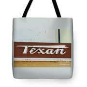 Texan Movie Theater Sign Tote Bag
