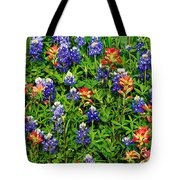 Texas Bluebonnets And Indian Paintbrush Tote Bag