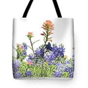Texas Bluebonnets And Red Indian Paintbrushes Tote Bag