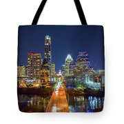 Texas Capital Skyline After Dark Tote Bag