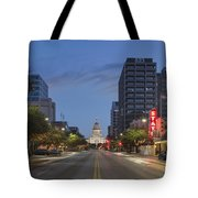Texas Capitol And The Paramount From Congress Tote Bag