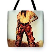 Texas Cowboy Tote Bag by Frederic Remington