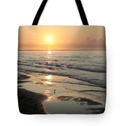 Texas Gulf Coast At Sunrise Tote Bag