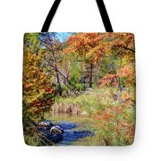 Texas Hill Country Autumn Tote Bag