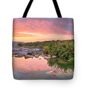 Texas Hill Country Morning Along The Pedernales 2 Tote Bag