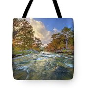 Texas Hill Country Pedernales Sunrise 1014-3 Tote Bag