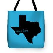 Texas Is Home Base Black Tote Bag