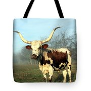 Texas Longhorn At Sunrise Tote Bag