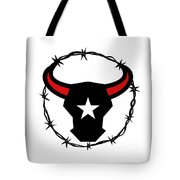 Texas Longhorn Barbed Wire Icon Tote Bag