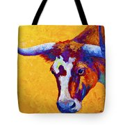 Texas Longhorn Cow Study Tote Bag