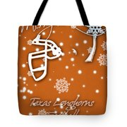 Texas Longhorns Christmas Card Tote Bag