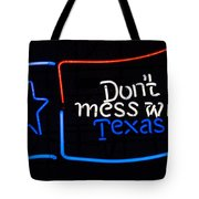 Texas Neon Sign Tote Bag