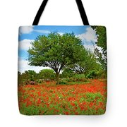 Texas Poppy Field 159 Tote Bag