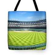 Texas Rangers Ballpark Waiting For Action Tote Bag