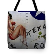 Texas Rose Noseart Tote Bag