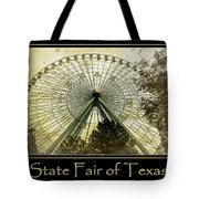 Texas Star Gold Poster Tote Bag